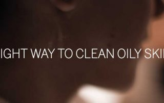 clean oily skin